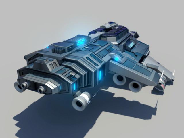 Futuristic Spaceship 3d rendering
