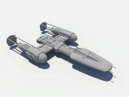 Y-wing Starfighter 3d preview