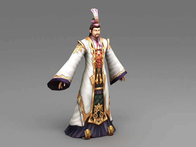 Ancient China Lord 3d rendering