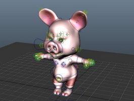 Cartoon Pig Rig 3d preview