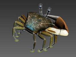 Fiddler Crab Rig 3d preview