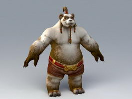 Male Pandaren Monk 3d preview