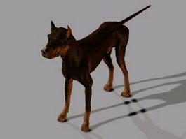 Black Dog 3d model preview