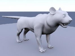 Baby Lion 3d preview