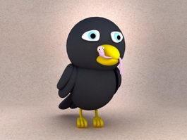 Cartoon Crow Bird 3d preview