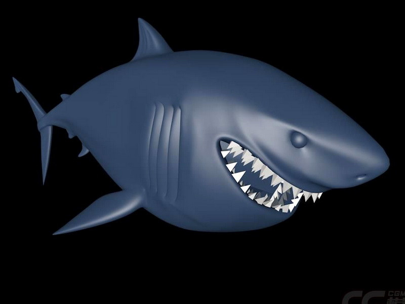 Finding Nemo Shark 3d rendering