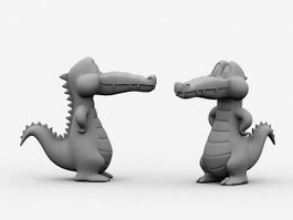 Cartoon Crocodile 3d preview