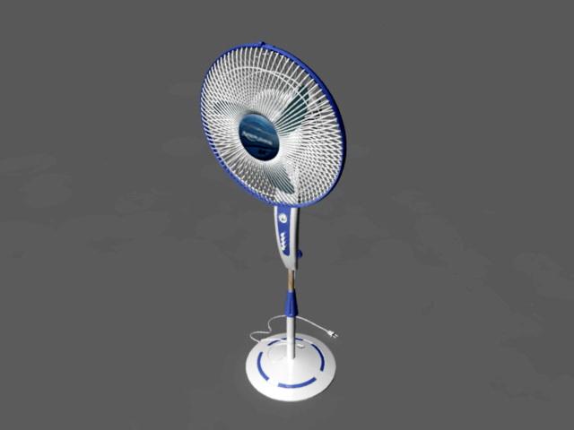 Portable Floor Fan 3d rendering