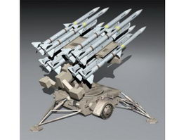 Missile Launching Turret 3d preview