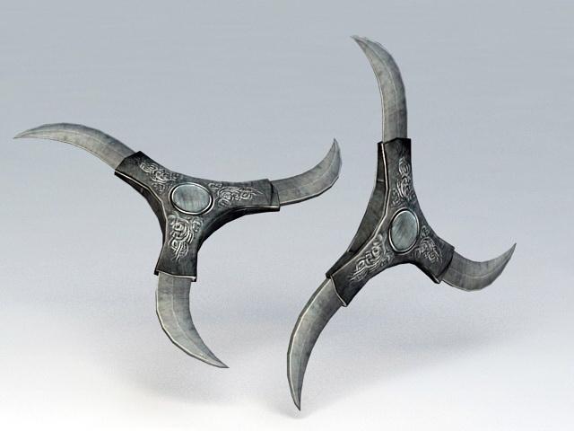 Shuriken Weapon 3d rendering