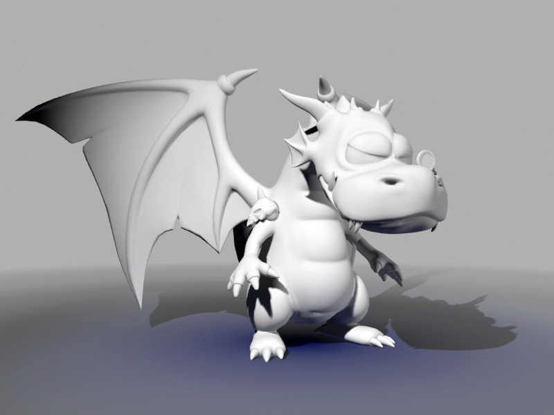 Cute Dragon 3d rendering