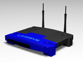 Linksys Wireless Router 3d preview