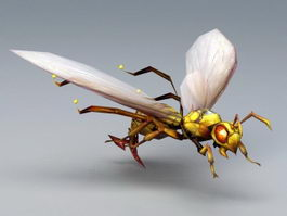 Anime Wasp 3d model preview