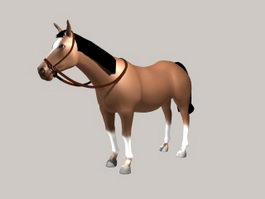Chestnut Horse 3d preview