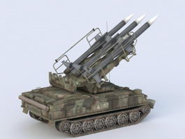 SA-6 Gainful Missile System 3d preview