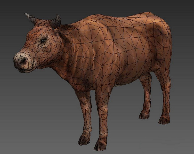 Domestic Cattle 3d rendering