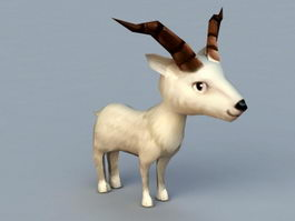 Cartoon Goat 3d preview