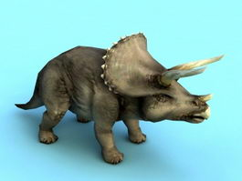 Triceratops Dinosaur 3d model preview