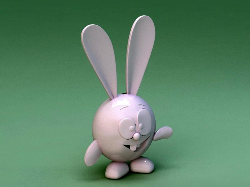 Plastic Toy Rabbit 3d rendering