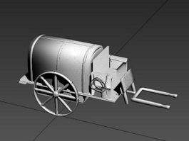 Old Carriage 3d preview