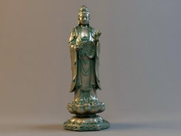 Guanyin Statue 3d preview