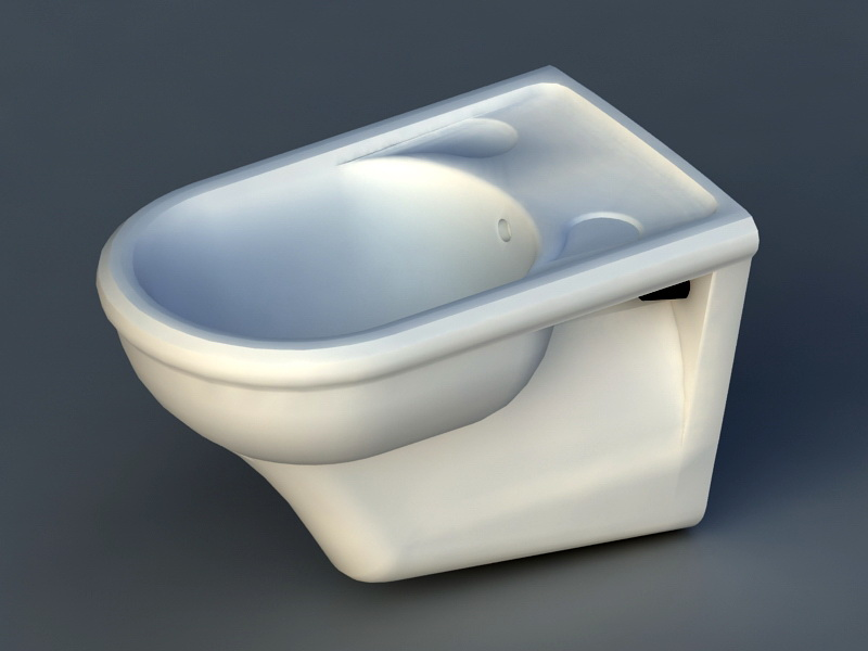 Floor Mount Bidet 3d rendering
