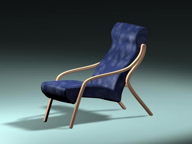 Vintage Recliner Chair 3d rendering