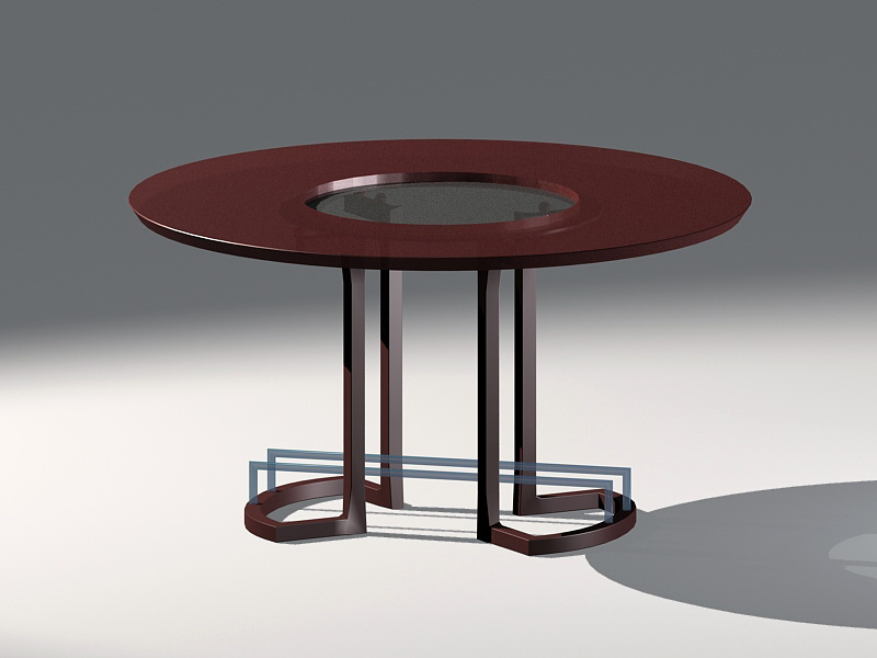 Round Accent Table 3d rendering
