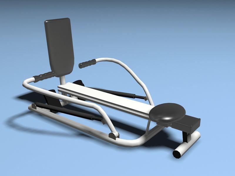 Animated Row Machine 3d rendering