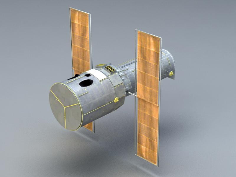 Hubble Space Telescope 3d rendering