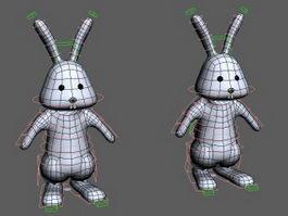 Cartoon Bunny Rabbit Rig 3d preview