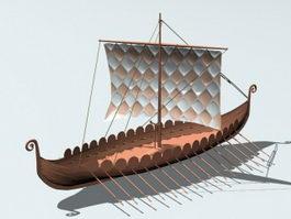 Ancient Viking Ship 3d model preview