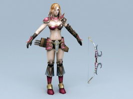 Female Medieval Archer 3d preview
