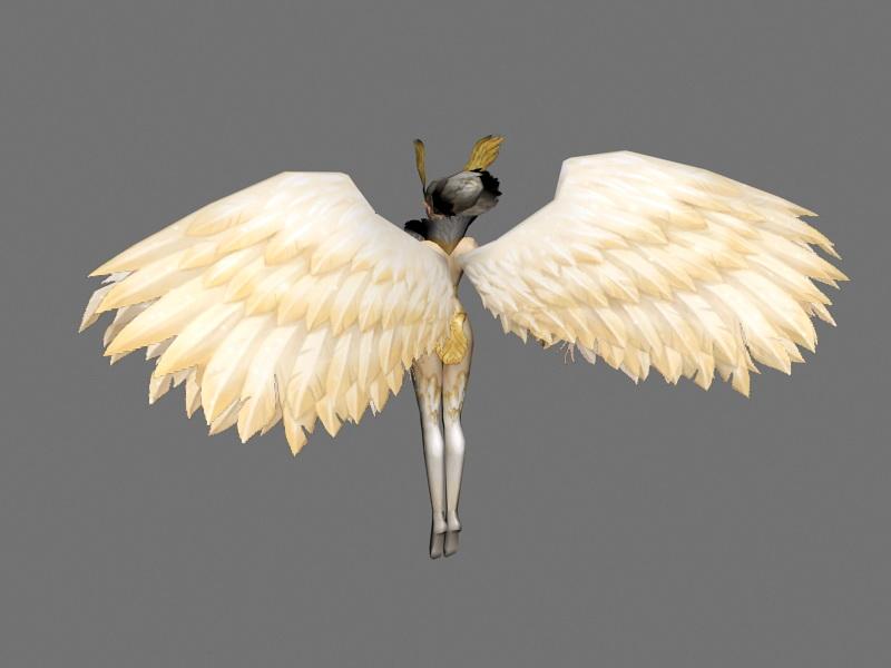 Warrior Guardian Angel 3d rendering
