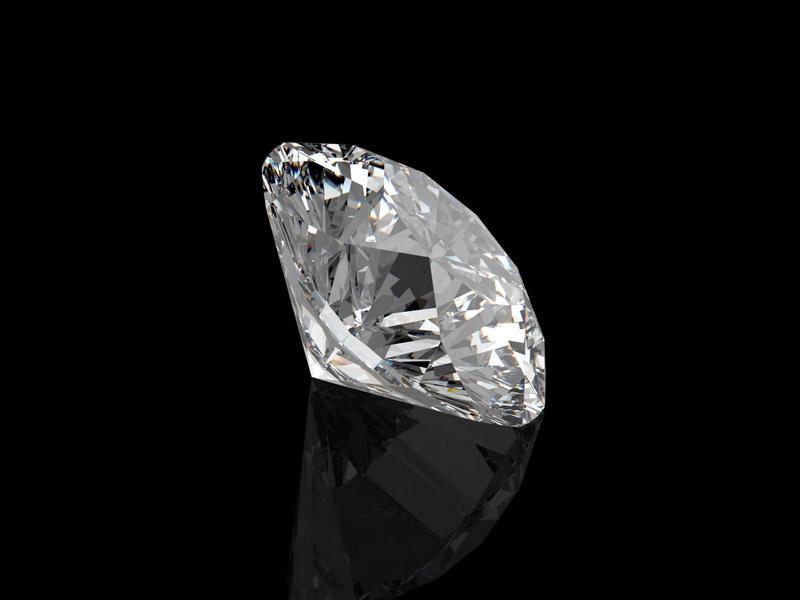 Brilliant Cut Diamond 3d rendering