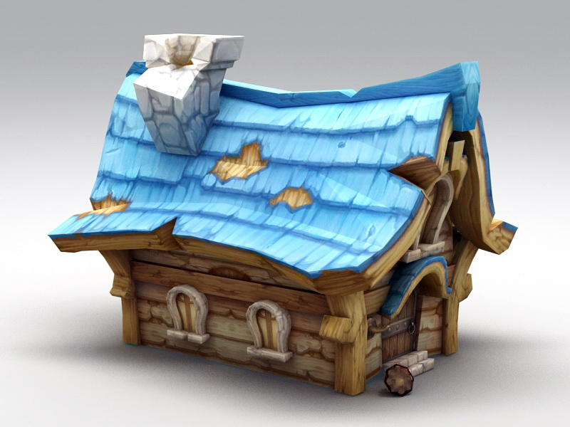 Small Medieval House 3d rendering