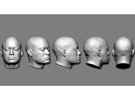 Man Head 3d preview