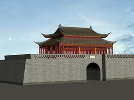 Ancient City Gate 3d preview