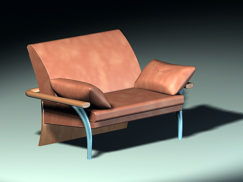 Traditional Loveseat 3d rendering