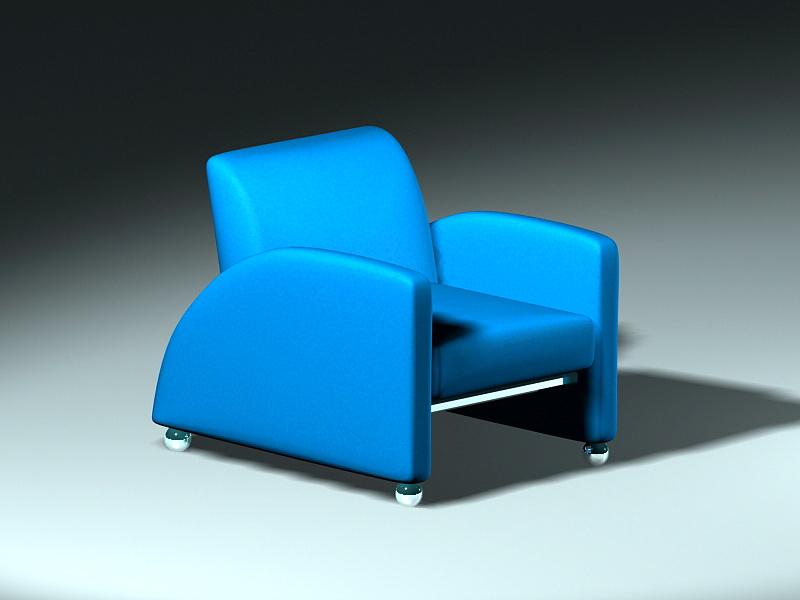 Single Sofa Chair 3d rendering