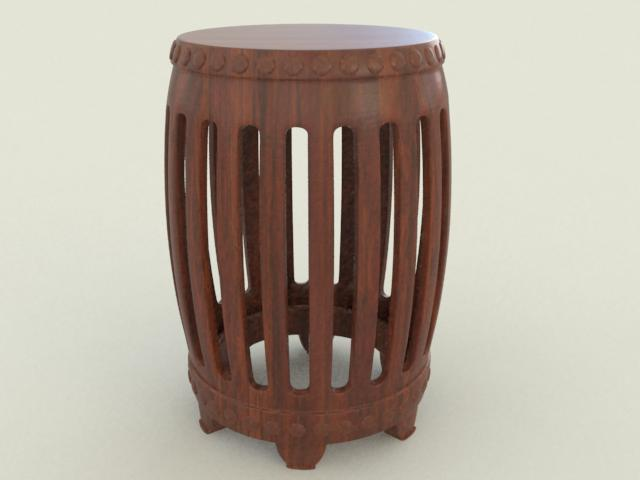 Chinese Style Stool 3d rendering