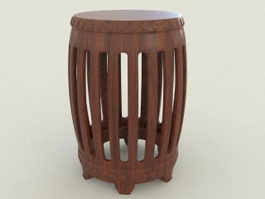 Chinese Style Stool 3d preview