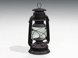 Antique Oil Lamp 3d preview