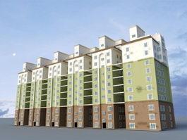 Contemporary Apartment Building 3d preview