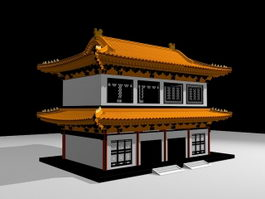 Ancient Chinese Architecture Building 3d preview
