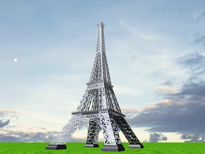 Eiffel Tower 3d rendering