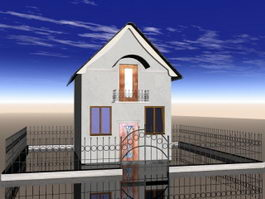 Small Brick Cottage 3d preview