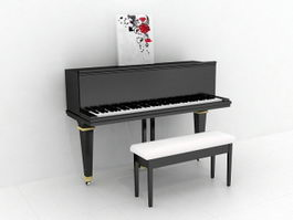 Upright Piano 3d preview