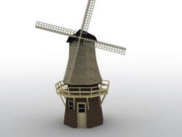 Windmill House 3d preview