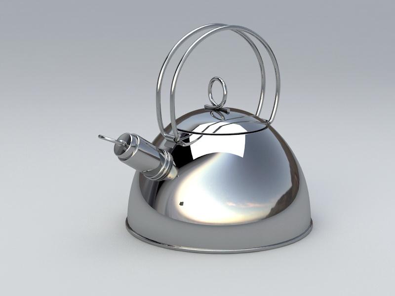 Tea Kettle 3d rendering
